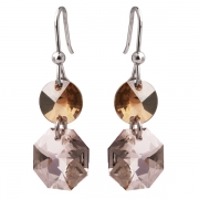 Серебряные серьги Monella с кристаллами Сваровски