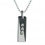 Мужской серебряный кулон Hot Diamonds с бриллиантами
