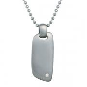 Мужской серебряный кулон Hot Diamonds с бриллиантом