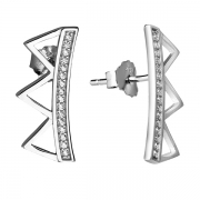 Серебряные серьги Sandara Ice с фианитом