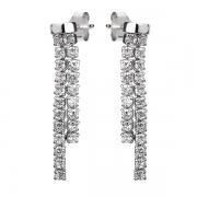 Серебряные серьги L.A. Crystal с фианитом