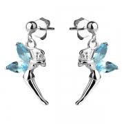 Серебряные серьги Sandara Ice с голубыми фианитами