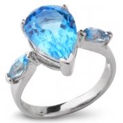 Серебряное кольцо Sandara с топазами