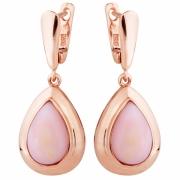 Серебряные серьги Sandara с розовыми опалами