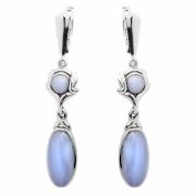 Серебряные серьги Sandara с голубым агатом