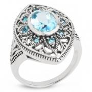 Серебряное кольцо Sandara c топазами
