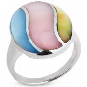 Серебряное кольцо Sandara c перламутром