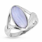 Серебряное кольцо Sandara c голубым агатом