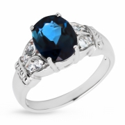 Серебряное кольцо Sandara c топазом