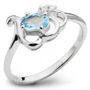 Серебряное кольцо Sandara с топазом и фианитом