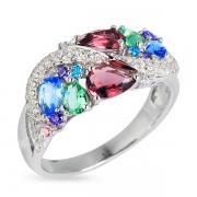 Серебряное кольцо Sandara Ice с иск. раухтопазом