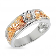 Серебряное кольцо Joli с фианитом и позолотой