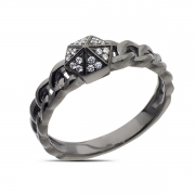 Серебряное кольцо Sandara Ice с фианитом