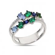 Серебряное кольцо Sandara Ice со шпинелью