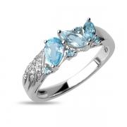 Серебряное кольцо Sandara с топазами и фианитом