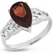 Серебряное кольцо Sandara с дымчатым кварцем и фианитами