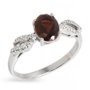 Серебряное кольцо Sandara с раух-топазом