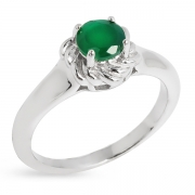 Серебряное кольцо Sandara с агатом