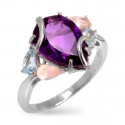 Серебряное кольцо Sandara с аметистом