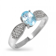 Серебряное кольцо Sandara с топазом