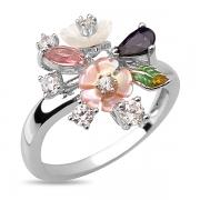 Серебряное кольцо Sandara с перламутром