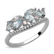 Серебряное кольцо Sandara с топазами и фианитами