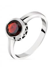 Серебряное кольцо Sandara с гранатом