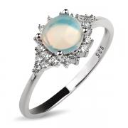 Серебряное кольцо Sandara с опалом м фианитами