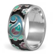 Серебряное кольцо Namfleg с эмалью