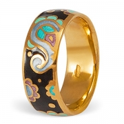 Серебряное с позолотой кольцо NamfleG с эмалью