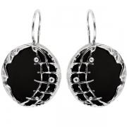 Серебряные серьги Yaffo с ониксом
