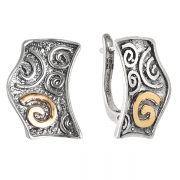 Серебряные серьги Yaffo с золотом