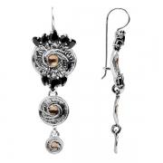 Серебряные серьги Yaffo с золотом и фианитами
