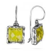 Серебряные серьги Yaffo с лимонным кварцем