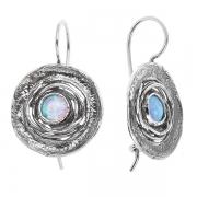 Серебряные серьги Yaffo с синт. опалом