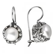Серебряные серьги Yaffo с жемчугом