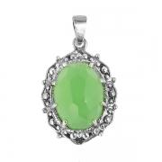 Серебряный кулон Yaffo с зеленым кварцем