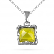 Серебряный кулон Yaffo с лимонным кварцем