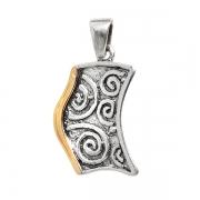 Серебряный кулон Yaffo с золотом