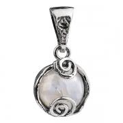 Серебряный кулон Yaffo с лунным камнем