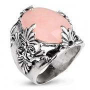 Серебряное кольцо Yaffo с розовым кварцем