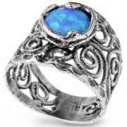 Серебряное кольцо Yaffo с опалом