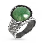 Серебряное кольцо Yaffo с авантюрином