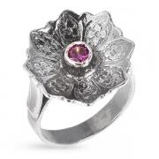 Серебряное кольцо Yaffo с аметистом
