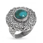 Серебряное кольцо Yaffo с бирюзой