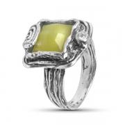 Серебряное кольцо Yaffo с лимонным кварцем и фианитом