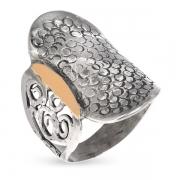 Серебряное кольцо Yaffo c золотом
