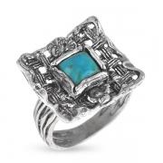 Серебряное кольцо Yaffo с с бирюзой