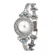 Серебряные часы Yaffo  с синт. опалом