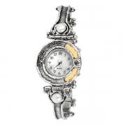Серебряные часы Yaffo с жемчугом, фианитами и золотом